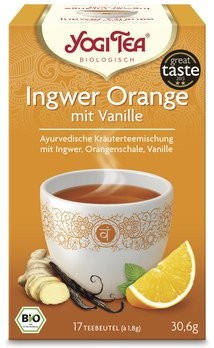 Yogi Tea® Ingwer Orange mit Vanille Bio 17x1,8g